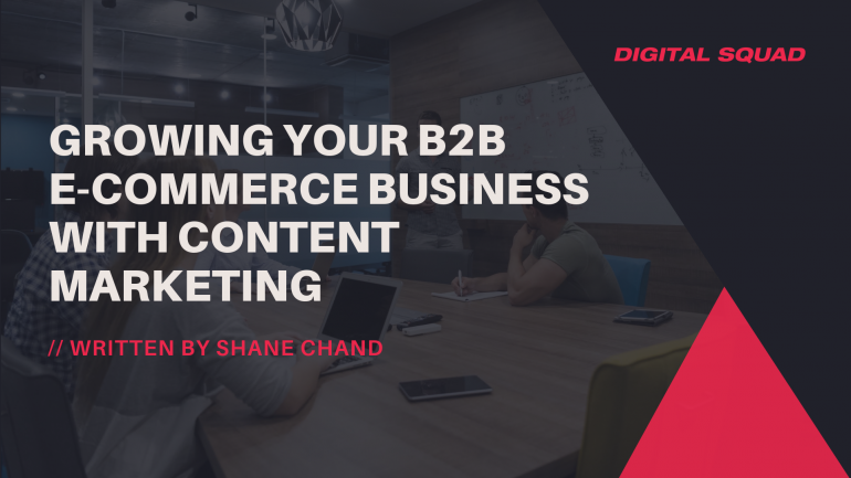 Growing Your B2B E-commerce Business With Content Marketing